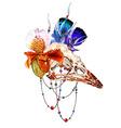 Bird Skull6 vector image vector image