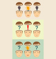 businesspeople with open mind vector image