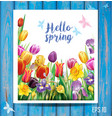 card with arrangement with multicolor spring vector image
