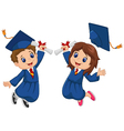 Cartoon Graduation Celebration vector image vector image