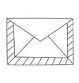 cartoon image of envelope icon mail symbol vector image vector image