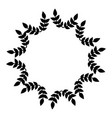 circle frame from leaves wedding decorations vector image