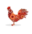 Cock silhouette ethnic pattern bird vector image vector image