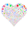 coffee bean fireworks heart vector image vector image