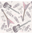 Cute grunge abstract seamless guitar pattern vector | Price: 1 Credit (USD $1)