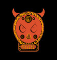 demonic infernal creature horned wicked baphomet vector image