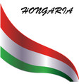 design element for hongaria national flag vector image vector image