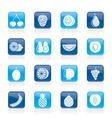 Different kind of fruit and icons vector | Price: 1 Credit (USD $1)