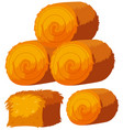 different shapes of haystacks vector image