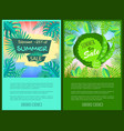discount summer sale web posters set percent off vector image vector image