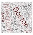 Doctors Doctor I am Sick text background wordcloud