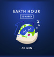 earth hour save our planet vector image vector image