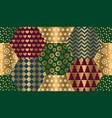 elegant luxury xmas seamless pattern vector image vector image