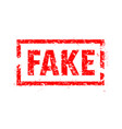 fake rubber stamp vector image vector image
