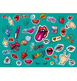 fashion patch badges pop art stickers vector image vector image