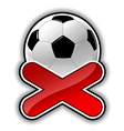 football fail outline vector image vector image