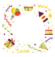 frame of birthday party object with space for text vector image vector image