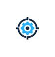 gear target logo icon design vector image