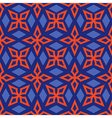 Geometric abstract bright seamless pattern on blue vector image vector image