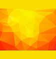 geometric orange background vector image