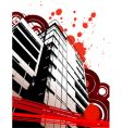 grunge urban abstraction vector image vector image