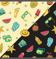 Hand drawn seamless summer time theme pattern