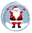 happy santa in snow vector image