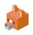 head fox modular animal plastic lego toy blocks vector image vector image