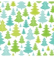 Holiday Christmas trees seamless pattern vector image vector image
