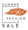 luxury summer fashion sale banner for sales vector image vector image
