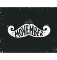 Movember vector image