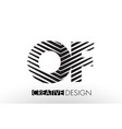 of o f lines letter design with creative elegant vector image vector image