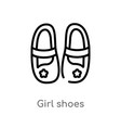 outline girl shoes icon isolated black simple