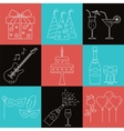 Party and celebration icons set vector image vector image