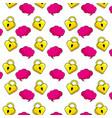 pop art background cartoons pattern vector image