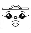portfolio briefcase kawaii character vector image
