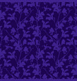 purple floral background with branch and magnolia vector image vector image