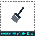putty knife icon flat vector image vector image