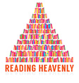 Reading Heavenly Colorful Books Stacks vector image vector image