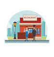 restaurant at city vector image