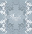 retro invitation card on floral background vector image vector image