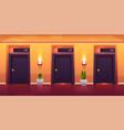 rooms in hotel corridor empty luxury hotel hallway vector image vector image