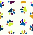 Seamless paw child Pet zoo pattern vector image vector image