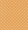 Seamless waffle texture vector image vector image