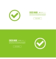 Set buttons with check marks vector image vector image