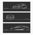 set modern car silhouettes vector image vector image