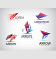 set of abstract logos arrows pointers vector image vector image