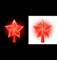 set of burning christmas stars for a christmas vector image vector image