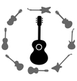 Set of Guitars Silhouettes vector image vector image