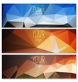 Set of polygon banners vector image vector image